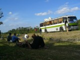 Bus was broken down for 2.5 hours
