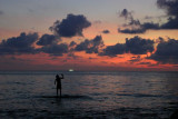 Fisherman in the sunset, Koh Chang, Thailand