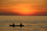 Sunset and canoe, Koh Chang, Thailand
