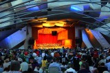 Concert at the Pritzker Pavilion at night, Chicago