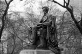 Abraham Lincoln - Grant Park by Augustus Saint-Gaudens, Chicago, Black and White