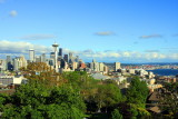 Seattle skyline and Elliott Bay from Queen Anne Hil