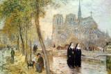 Raffaelli, Jean-Francois: (1850-1924 French), Notre Dame De Paris - One of my favorites, Art Institute of Chicago