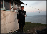 Morning coffe at lake Kerkini is nice at minus 5 degrees Celius!