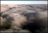Going through heavy clouds south of Denmark