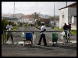 Prepairing fishing lines in Punta Delgada
