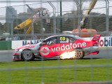 Jamie Whincup on fire