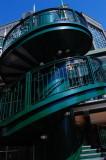 green stairwell