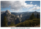 Half Dome, Vernal, and Nevada Falls from Glacier Point