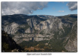 Upper and Lower Yosemite Falls from Glacier Point