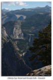 Liberty Cap, Vernal and Nevada Falls from Glacier Point