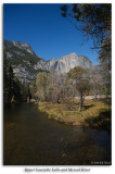 Upper Yosemite Falls and Merced River