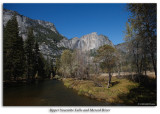 Upper Yosemite Falls and Merced Rive