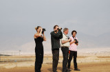 Frida Viggo Mikael and Simon birdwatching at km 19