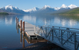 Public pier by boat launch - Apgar Lake McDonald Glacier z P1080454
