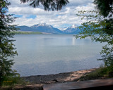 Bench by Lake McDonald at Apgar in Glacier  IMG_1225