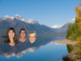 zzP1020433 Suzie Sandy Catherine in Two people at Lake McDonald in Glacier National Park.jpg