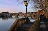soir d'hiver sur le pont neuf