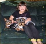 Yorkie Tiger with Savannah