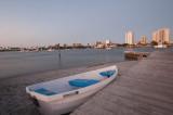 White rowboat
