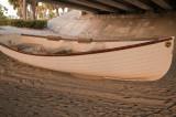 Boat under a bridge