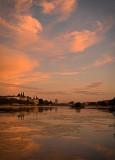 Moonrise & Sunset at Lake Peblinge