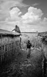 Maasai Roofers! (bw)
