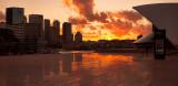 Opera House & Circular Quay sunset reflection