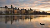 Lake Peblinge & Søtorvet sunset reflection