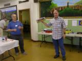 Dave Pires announces an ExactRail SP Chip Gondola as a raffle prize. Thank You ExactRail!