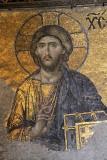 Jesus Christus als Pantokrator an einer Wand der Südempore  / The Deësis mosaic with Christ as ruler