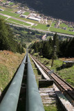 Intake pipelines to the Ambri Piotta hydroelectric plant.