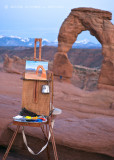 The Painter's Easel and Delicate Arch