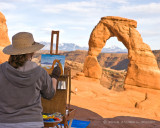 The Painter and Delicate Arch