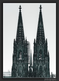Towers of Cologne Cathedral with Snow