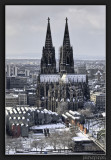Cologne covered with snow
