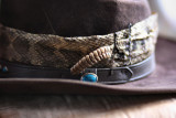 Snakeskin Hatband