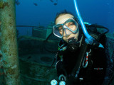 Claire at the Satil Wreck
