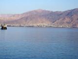 Aqaba, Jordan as seen from Eilat