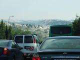 Traffic on way to Jerusalem