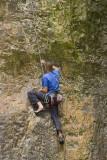 climbing a vertical face