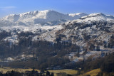 Grasmere foreground with Coniston fells on horizon