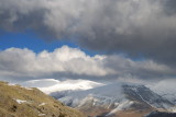 Helvellyn from west; a fairly rare emergence from the clouds