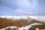 Helvellyn & Fairfield ridge beyond Seat Sandal