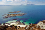 from Smirisary Hill towards Eigg and Rum behind it