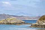Samalaman Island with (?) Blaven on Skye beyond