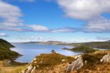 Loch nam Uamh with Eigg background left & Skye BG right