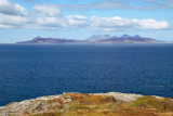 Eigg with Rum behind; characteristic view from much of peninsula