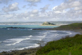 Mounts Bay - Penzance in background, Perranuthnow beach in foreground