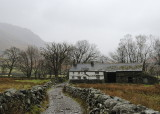 Bridge end - a lovely longhouse style farmstead on the bridleway on south side of the valley (sorry it's now raining)